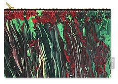 Carry-all Pouch featuring the painting Up Close And Personal by Karen Nicholson