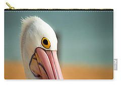 Carry-all Pouch featuring the photograph Up Close And Personal With My Pelican Friend by T Brian Jones