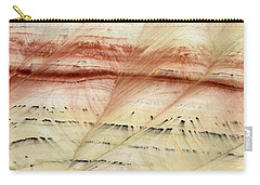 Carry-all Pouch featuring the photograph Up Close Painted Hills by Greg Nyquist