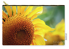 Up Close Sunflower Carry-all Pouch