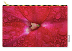 Up Close With Impatiens Carry-all Pouch