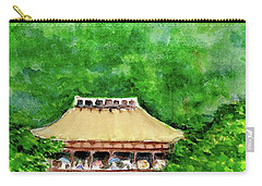 Carry-all Pouch featuring the painting Up High Temple by Yoshiko Mishina