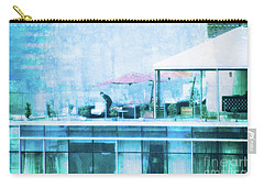 Carry-all Pouch featuring the digital art Up On The Roof - II by Mary Machare