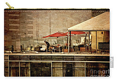 Carry-all Pouch featuring the photograph Up On The Roof - Miraflores Peru by Mary Machare