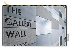 Carry-all Pouch featuring the photograph Up The Wall-the Gallery Wall Logo by Wendy Wilton