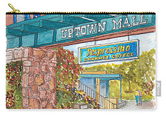 Sedona Up Town Mall In Sedona, California Carry-all Pouch by Carlos G Groppa