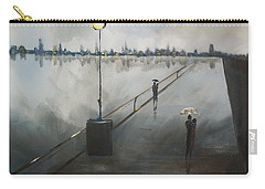 Carry-all Pouch featuring the painting Upon The Boardwalk by Raymond Doward