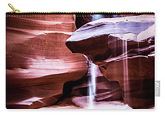 Carry-all Pouch featuring the photograph upper antelope Canyon by Norman Hall