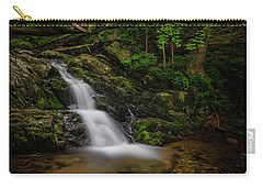 Carry-all Pouch featuring the photograph Upper Falls On Doyle River by Ronald Santini