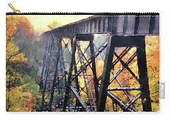 Upper Peninsula Train Trestle Carry-all Pouch by Phil Perkins