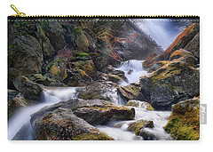 Carry-all Pouch featuring the photograph Upper Race Brook Falls 2017 by Bill Wakeley