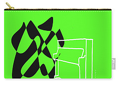 Upright Piano In Green Carry-all Pouch by David Bridburg