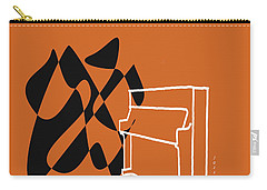 Upright Piano In Orange Carry-all Pouch by David Bridburg