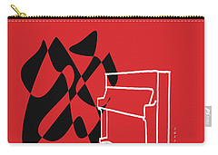 Upright Piano In Red Carry-all Pouch by David Bridburg