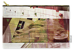 Carry-all Pouch featuring the photograph Uptown Library With Color by Susan Stone