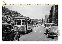Carry-all Pouch featuring the photograph Uptown Trolley Near 193rd Street by Cole Thompson