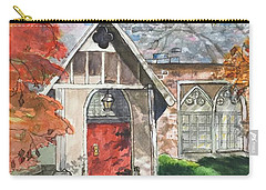 Carry-all Pouch featuring the painting Urban  Church Sketching by Lucia Grilletto