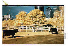 Urban Cows Carry-all Pouch by Helga Novelli