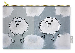 Carry-all Pouch featuring the photograph Urban Rain Clouds by Art Block Collections