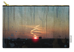 Carry-all Pouch featuring the painting Urban Sunrise by Ivana Westin