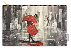 Urban Walk In The Rain Carry-all Pouch by Lucia Grilletto