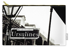 Ursulines In Monotone, New Orleans, Louisiana Carry-all Pouch