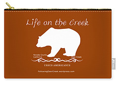 Ursus Americanus - White Text Carry-all Pouch
