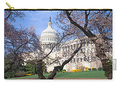 Us Capitol Building And Cherry Carry-all Pouch by Panoramic Images