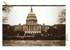 Carry-all Pouch featuring the photograph Us Capitol Building In 1950s by Marilyn Hunt