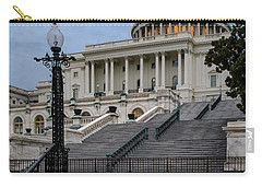 Carry-all Pouch featuring the photograph Us Capitol Building Twilight by Susan Candelario