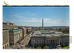 Carry-all Pouch featuring the photograph Us Department Of Treasury by Jean Haynes