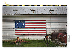 Us Flag Barn Carry-all Pouch