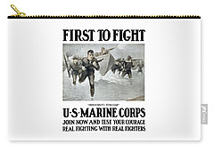Us Marine Corps - First To Fight  Carry-all Pouch
