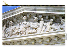 Us Supreme Court 4 Carry-all Pouch by Randall Weidner