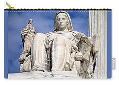 Us Supreme Court 7 Carry-all Pouch by Randall Weidner