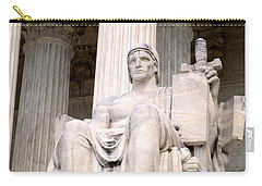 Us Supreme Court 8 Carry-all Pouch by Randall Weidner