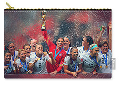 Us Women's Soccer Carry-all Pouch by Semih Yurdabak
