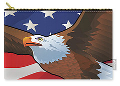 Usa Bald Eagle Carry-all Pouch