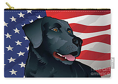Usa Black Lab Carry-all Pouch