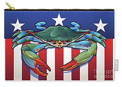 Usa Blue Crab Carry-all Pouch