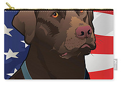 Usa Chocolate Lab Carry-all Pouch