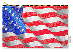 Carry-all Pouch featuring the digital art Usa Usa Usa by Rafael Salazar