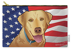 Usa Yellow Lab Carry-all Pouch
