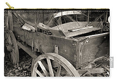 Carry-all Pouch featuring the photograph Used Farm Wagon by Scott Kingery
