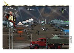 Area 51 Used U F O S Carry-all Pouch by Mike McGlothlen
