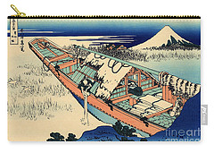 Ushibori In The Hitachi Province Carry-all Pouch by Hokusai