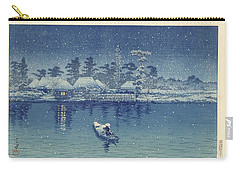 Carry-all Pouch featuring the painting Ushibori, Kawase Hasui, 1930 by Celestial Images
