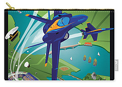 Usna Class Of 2015 12 X 16 Carry-all Pouch