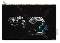 Uss Savannah In Deep Space Carry-all Pouch