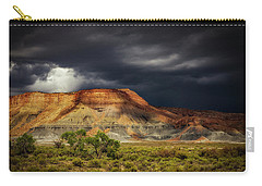 Carry-all Pouch featuring the photograph Utah Mountain With Storm Clouds by John A Rodriguez